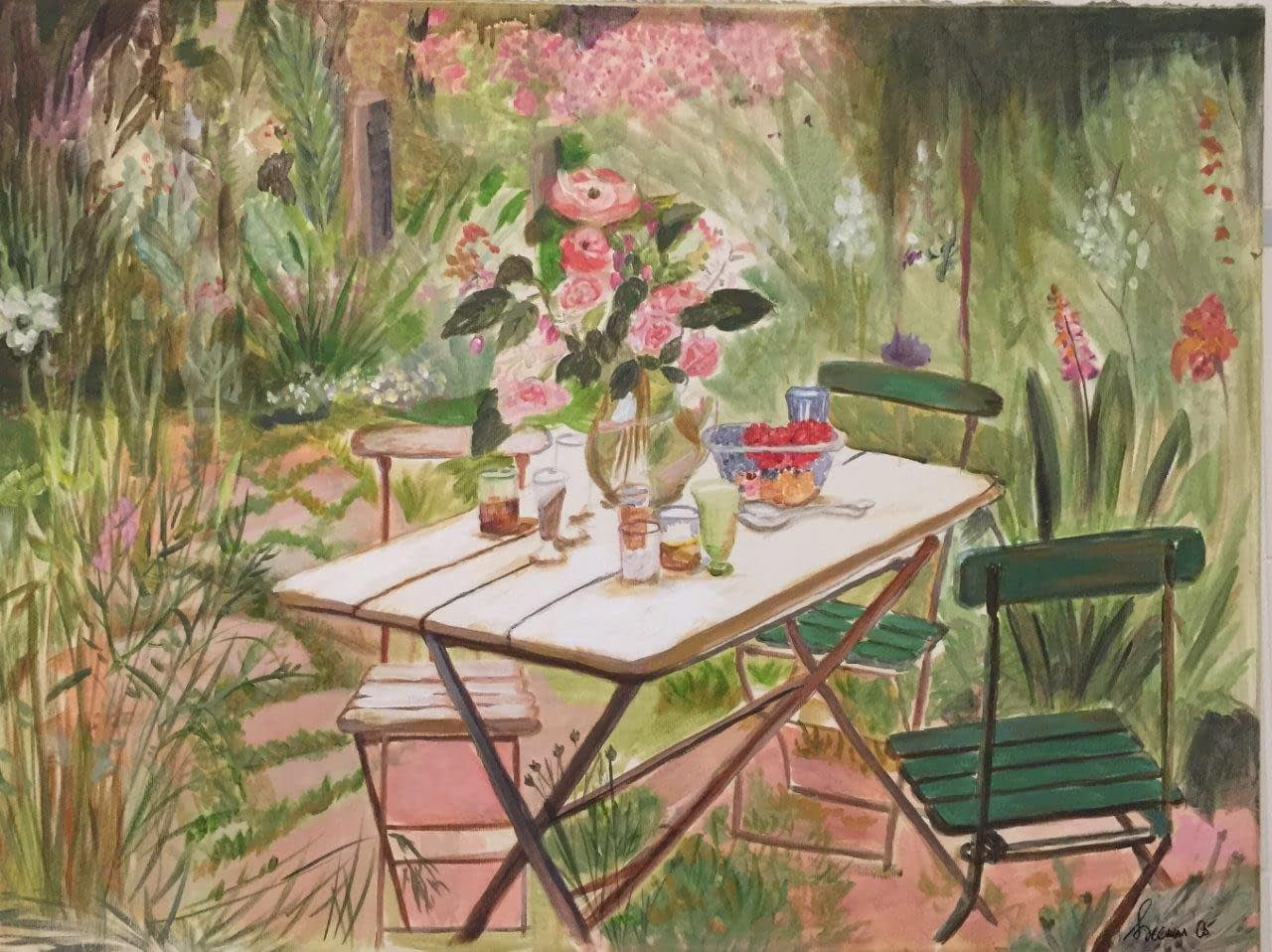 Fairytale Garden - acrylics